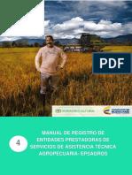 Manual de Registro de Entidades Prestadoras de Servicios de Asistencia Técnica Agropecuaria - Epsagro