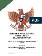 CASR Part 65 Amdt. 1 - Licensing of Aircraft Maintenance Engineer.pdf
