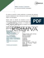 Carta Curso Tecnicas de Entrevista e Interrogatorio