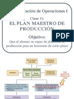 Clase 11 - El Plan Maestro de Produccion