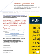 100 TOP DATA STRUCTURES and ALGORITHMS Multiple Choice Questions and Answers Data Structures and Algorithms Questions