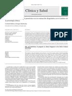 Función y Limitaciones Del Pronóstico en La Evaluación Diagnóstica en El Ámbito de La Psicología Clínica. 2015