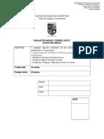 evaluación 5to g.lírico- Forma B