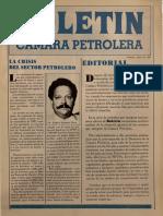 Boletín Cámara Petrolera de Venezuela. Caracas, Julio 1983