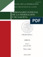 Semanario Jud Libro IX tomo 1 junio 2012 Pleno y Salas.pdf