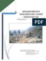 1 Informe de Geologia General - Cerro Arrastre