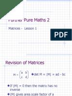 Lesson Notes_Matrices Lesson 1