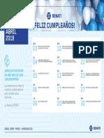 Cumpleaños Abril 2019 - Junin Pasco Huancavelica