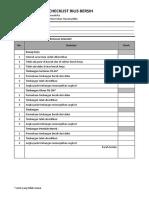 Form Checklist Rilis Bersih Steril v2019