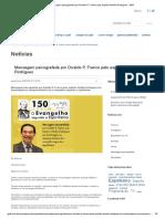 Mensagem Psicografada Por Divaldo P. Franco Pelo Espírito Amélia Rodrigues - GEIF