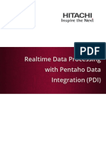 Real Time Data Processing With PDI