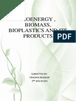 Bioenergy , Biomass, And Its Products - Pradnya