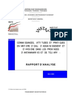 Connaissances, attitudes et pratiques en matiere d'eau, d'assainissement et d'hygiene dans les provinces d'Antananarivo et de Toliary (Mai 2004)