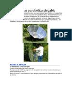 Cocina Solar Parabólica Plegable