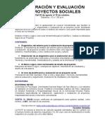 Syllabus Elaboracion y Evaluacion de Proyectos Sociales