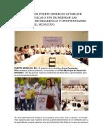 EL GOBIERNO DE PUERTO MORELOS ESTABLECE POLÍTICAS PÚBLICAS A FIN DE MEJORAR LAS CONDICIONES DE DESARROLLO Y OPORTUNIDADES DE JÓVENES DEL MUNICIPIO