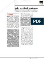 Sì alle regole, no alle dipendenze - Il Corriere Adriatico del 13 aprile 2019