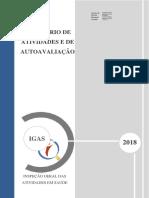Relatório de Atividades e Auto-avaliação de 2018
