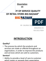 study of big bazaar service quality