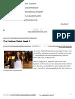 The Fashion Watch Week 7