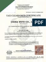 Tax Clearance