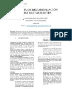 Sistema de Restaurantes