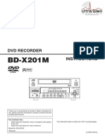 JVC BD X201M Instruction