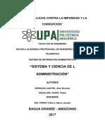 Sistema y Ciencia de La Administración