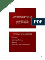 Assessing Speaking