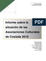 PARTICIPACIÓN CIUDADANA | Resultados del Informe sobre el estado de las Asociaciones Culturales de Coslada 2019