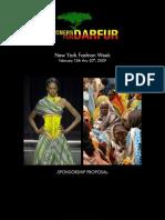 DESIGNERS FOR DARFUR SPONSORSHIP PROPOSAL 150K-25K