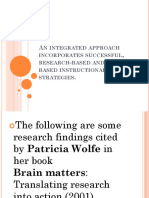 An Integrated Approach Incorporates Successful, Research-based And