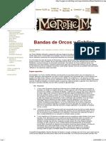 Banda Orcos y Goblins Para Mordheim