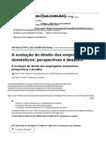 A Evolução Do Direito Dos Empregados Domésticos - Perspectivas e Desafios