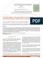 The Methodology of the Operating Cost Accounting in Identifying Mileage of Efficient Motor Vehicle Operation[#352375]-363273