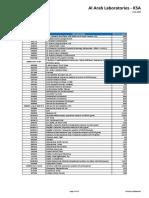 NRL Price List 2018