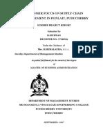 26 CUSTOMER FOCUS ON SUPPLY CHAIN MANAGEMENT IN PONLAIT PUDUCHERRY.doc