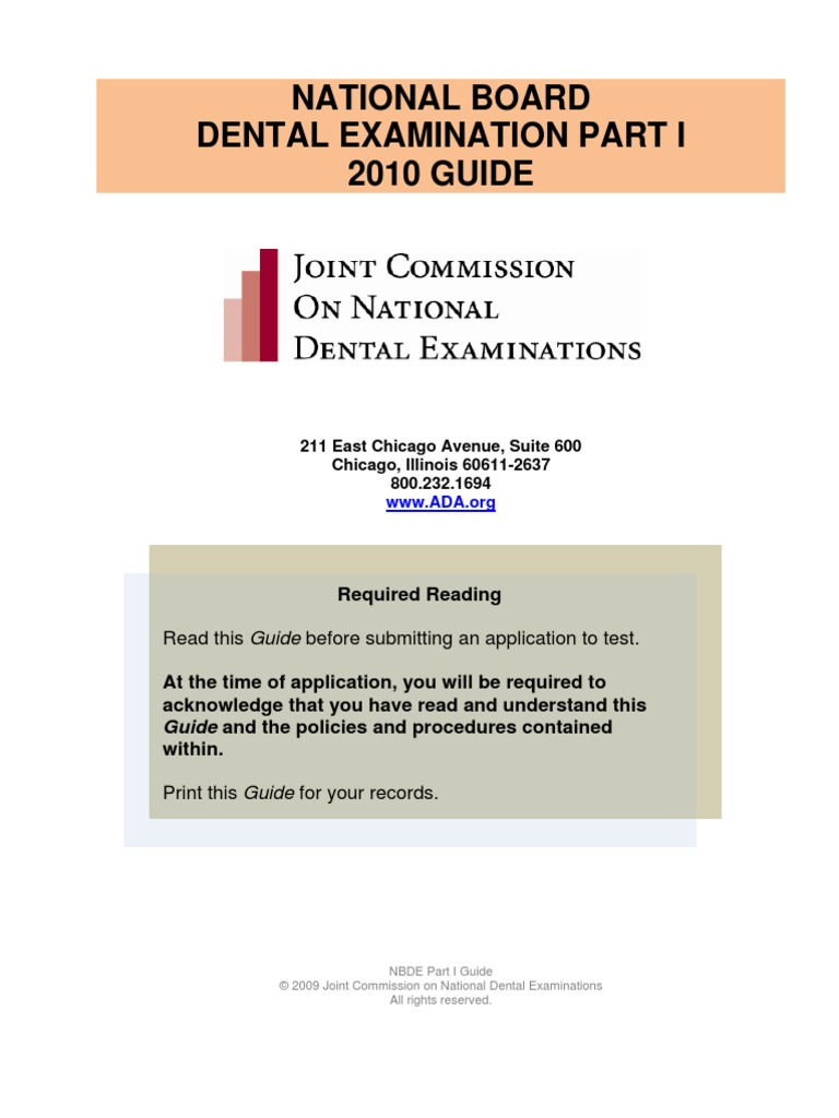 Nbde01 Guide 2010 | Identity Document | Personally Identifiable