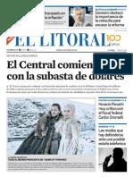 El Litoral Mañana 15-04-2019