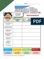 Findsomeone Restaurants