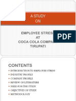 A STUDY on Employee Stress r