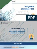 PROGRAMA Escuelas Faro Chaco 2019. PPT. Primer circulo de supervisores