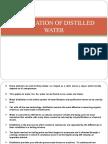 Preparation of Distilled Water