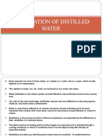 Preparation of Distilled Water