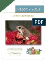Wildcare Annual Report 2013