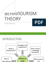 Behaviourism Theory
