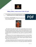 Military History Anniversaries 0416 Thru 043019