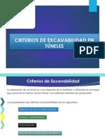 Criterios de Excavabilidad en Túneles