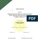 Lembar Pengesahan Proposal