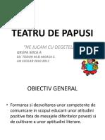 Teatru de Papusi-optimica A